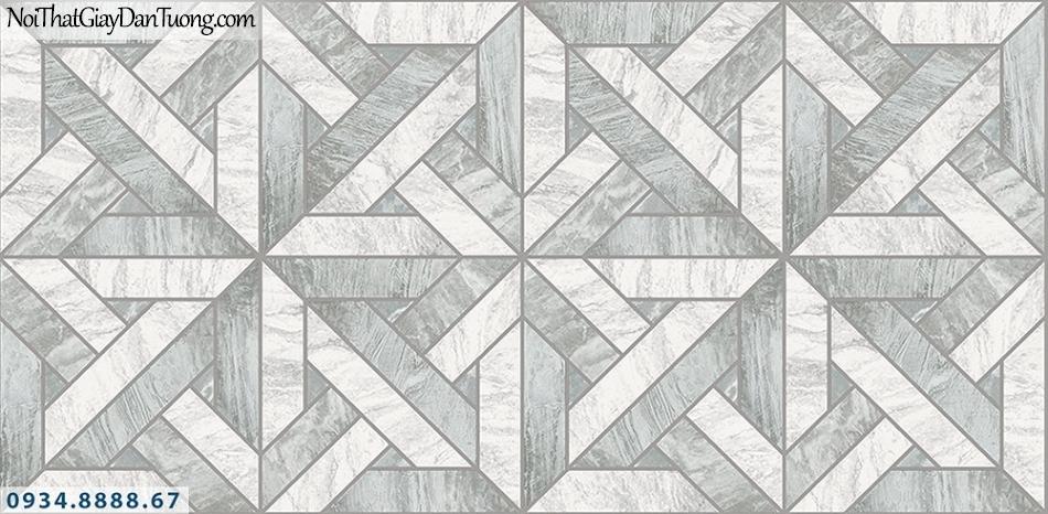Assemble | Giấy dán tường 3D màu xám xanh, trắng xám | Giấy dán tường Hàn Quốc 40118-2