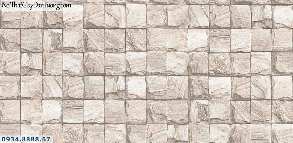 Assemble | Giấy dán tường giả đá 3D, hình đá ô vuông | Giấy dán tường Assemble 40108-4