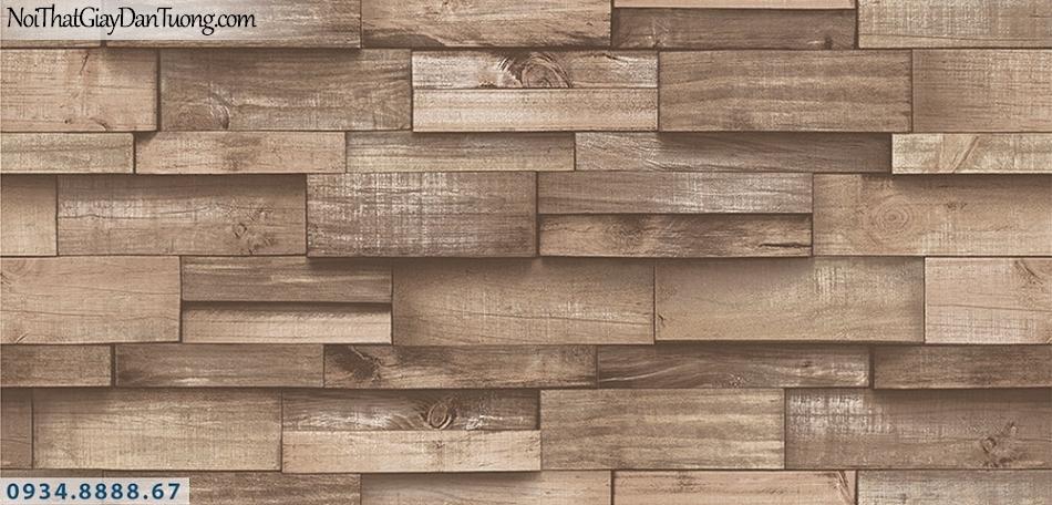 Assemble | Giấy dán tường giả gỗ 3D màu nâu, màu nâu đỏ | Giấy dán tường Assemble 40111-4