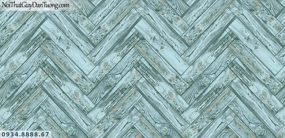 Assemble | Giấy dán tường giả gỗ màu xanh | Giấy dán tường Hàn Quốc 40119-4