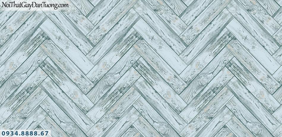 Assemble | Giấy dán tường giả gỗ màu xanh nhạt, xanh lơ | Giấy dán tường Hàn Quốc 40119-5