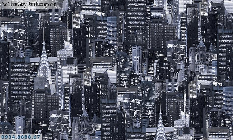 Assemble | Giấy dán tường hình thành phố new york màu trắng đen | Giấy dán tường Assemble 40094-3