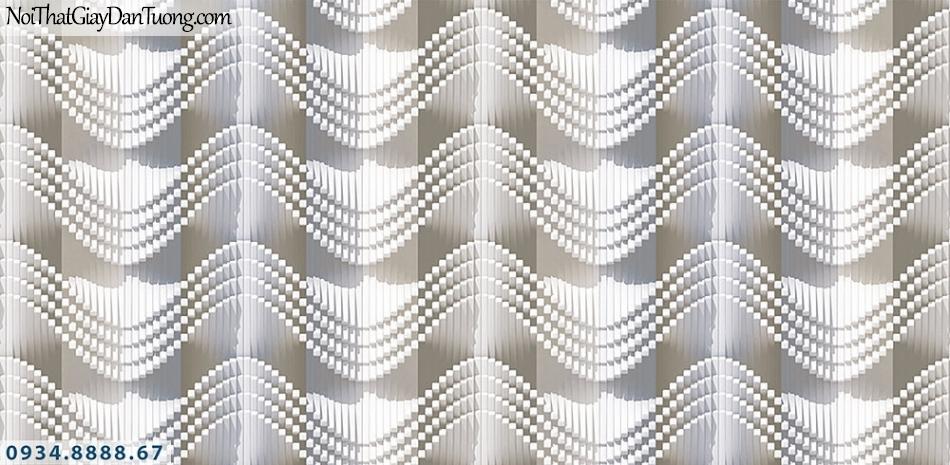 Assemble | Giấy dán tường sóng 3D, uốn lượn sóng đẹp | Giấy dán tường Assemble 40115-3