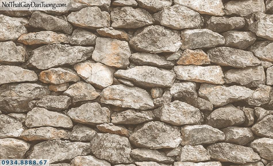 Assemble | Giấy dán tường bức tường đá 3D, giả đá màu vàng nhạt | Giấy dán tường Hàn Quốc 40121-2