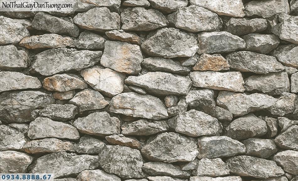 Assemble | Giấy dán tường giả đá, vách tường đá 3D màu xám | Giấy dán tường Hàn Quốc 40121-1