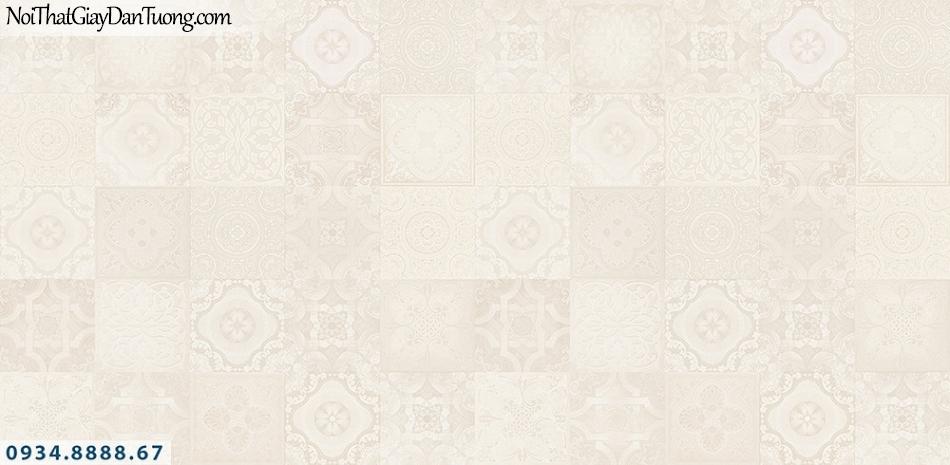 Assemble | Giấy dán tường giả gạch cổ nhiều màu sắc, giấy gạch màu vàng kem| Giấy dán tường Hàn Quốc 45007-3