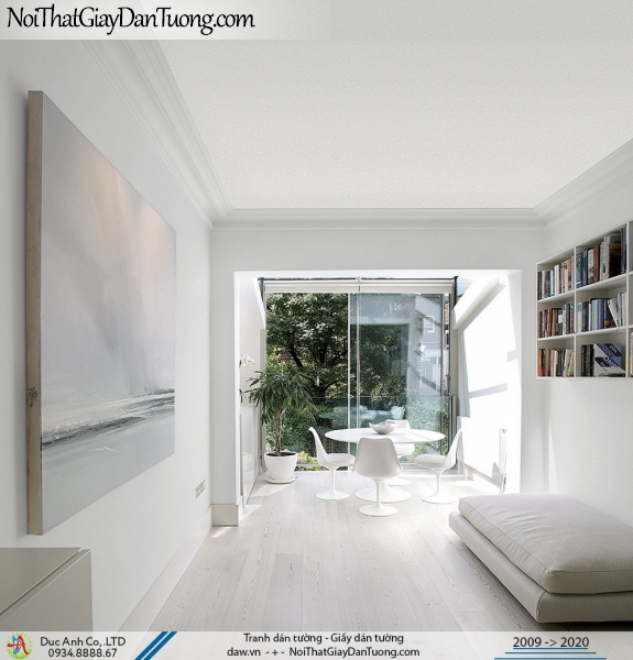 ARTBOOK | Giấy dán tường dang gân trơn đơn giản | Giấy dán tường Hàn Quốc Artbook 54160-1