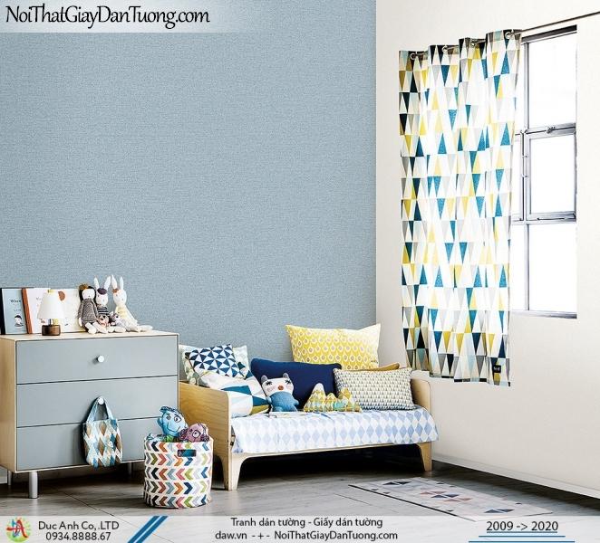 ARTBOOK | Giấy dán tường xanh dương đẹp, giấy gân trơn hiện đại | Giấy dán tường Hàn Quốc Artbook 57174-8