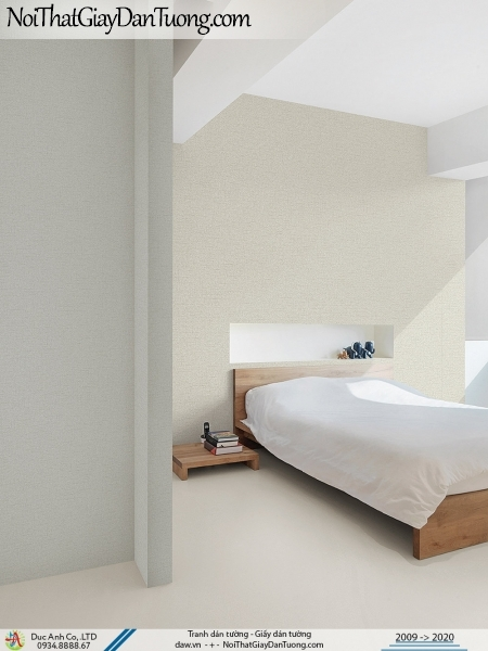 ARTBOOK | phòng ngủ ấm cũng, nhẹ nhàng thanh thoát rất thoải mái khi sử dụng giấy gân trơn | Giấy dán tường Hàn Quốc Artbook 1 57153-4 - 57153-2