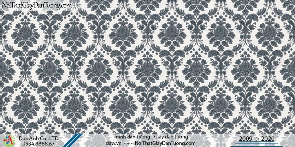 Art Deco | Giấy dán tường cổ điển đen trắng, họa tiết đen trắng | Giấy dán tường Hàn Quốc Art Deco 8255-4