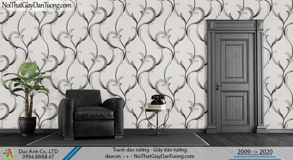 Art Deco | Giấy dán tường dạng dây leo tường màu xám | Giấy dán tường Art Deco 8257-4