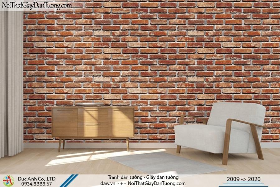 Art Deco | Giấy dán tường giả gạch 3D, gạch màu vàng, màu đỏ, màu cam | Giấy dán tường Art Deco 8267-3
