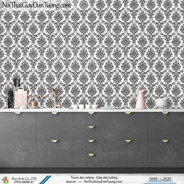 Art Deco | giấy dán tường hoa văn cổ điển, màu đen trắng, họa tiết trắng đen | Giấy dán tường Art Deco 8255-4