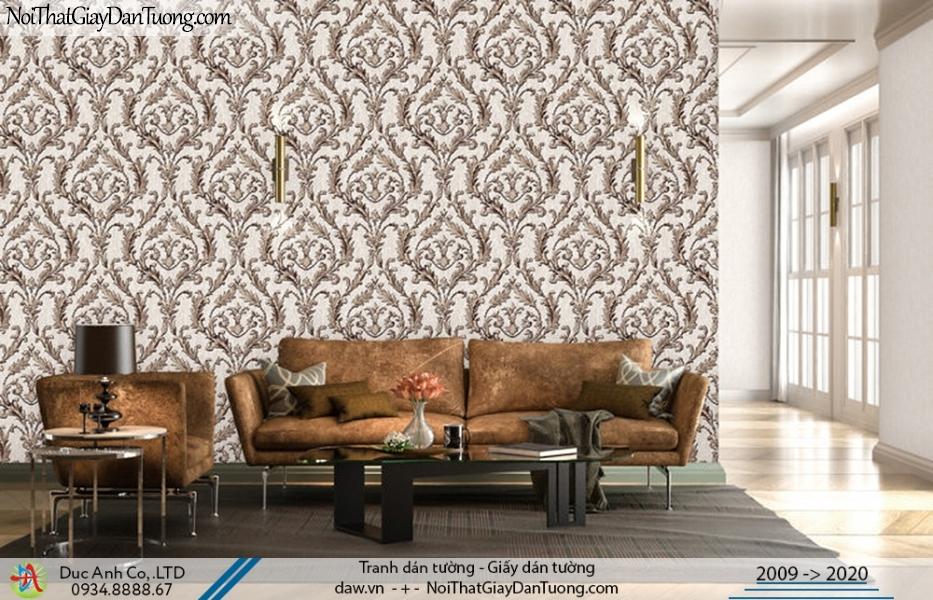 Art Deco | Giấy dán tường hoa văn cổ điển màu xám | Giấy dán tường Art Deco 8264-5 - 8265-5