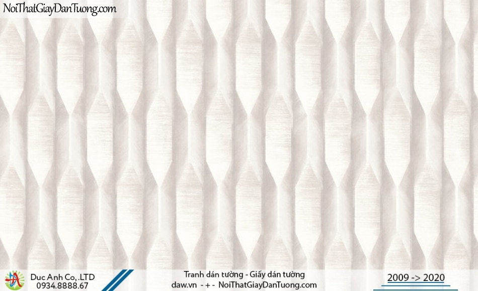 Art Deco | Giấy dán tường 3D màu kem | Giấy dán tường Hàn Quốc Art Deco 8266-1