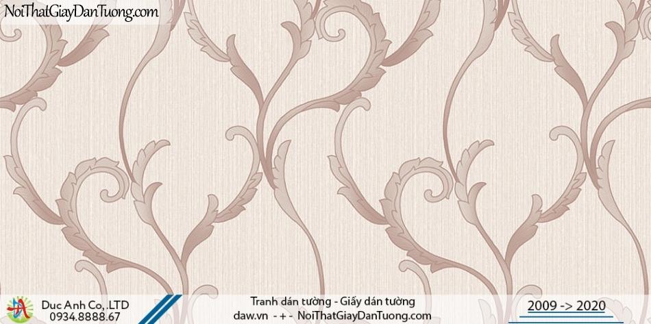 Art Deco | Giấy dán tường dây lá leo tường màu hồng | Giấy dán tường Hàn Quốc Art Deco 8257-3