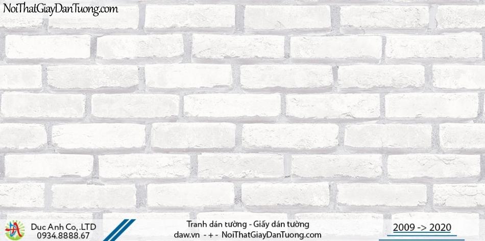 Art Deco | Giấy dán tường giả gạch màu trắng, giấy dán tường giả gạch 3D | Giấy dán tường Hàn Quốc Art Deco 8267-1