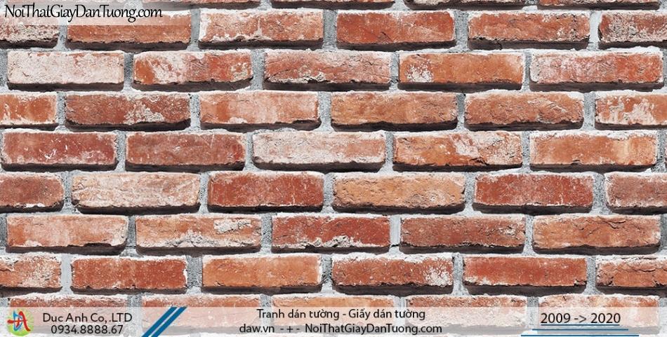 Art Deco | Giấy dán tường giả gạch màu vàng, giả gạch màu cam, giả gạch 3D | Giấy dán tường Hàn Quốc Art Deco 8267-3