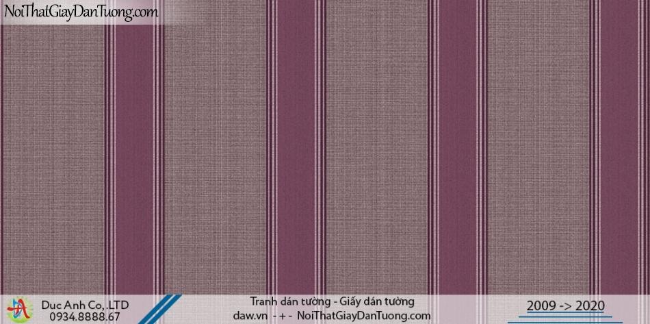 Art Deco | Giấy dán tường kẻ sọc màu đỏ, giấy sọc màu tím, sọc màu nâu | Giấy dán tường Hàn Quốc Art Deco 8261-3