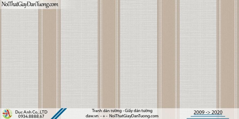 Art Deco | Giấy dán tường kẻ sọc màu nâu, giấy sọc thẳng đứng | Giấy dán tường Hàn Quốc Art Deco 8261-2