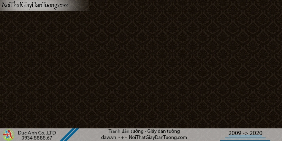 CASSIA |Giấy dán tường cổ điển màu đen | Giấy dán tường Cassia 8653-3