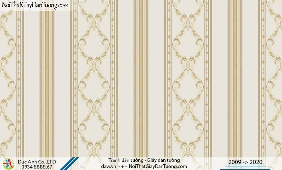 CASSIA |Giấy dán tường sọc, giấy sọc hoa văn màu vàng | Giấy dán tường Cassia 8655-3