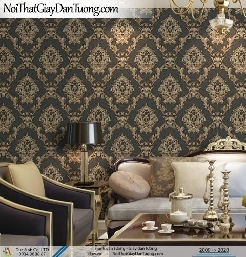 CASSIA  Giấy dán tường sọc hoa văn màu vàng kem   Giấy dán tường Cassia 8655-2