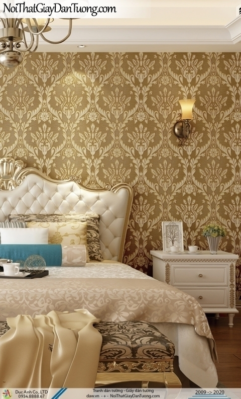 CASSIA |giấy dán tường 3D, nhiều vòng tròn màu vàng | Giấy dán tường Cassia 8665-2