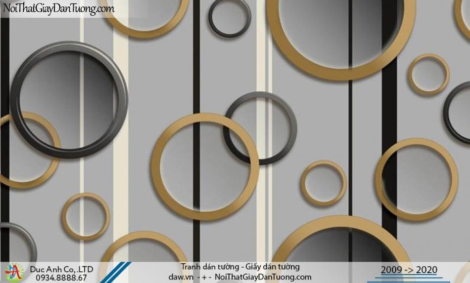 CASSIA | giấy dán tường 3d, những vòng tròn màu xám đậm | Giấy dán tường Cassia 8665-3