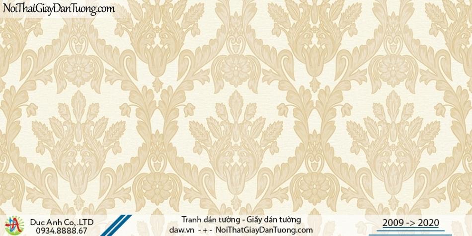CASSIA |giấy dán tường cổ điển màu vàng, sáng trọng ấn tượng| Giấy dán tường Cassia 8663-1