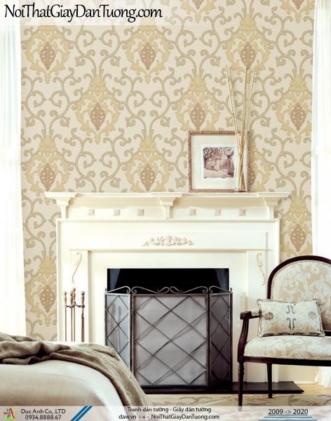 CASSIA | Giấy dán tường cổ điển phong cách Châu Âu màu vàng | Giấy dán tường Cassia 8661-2
