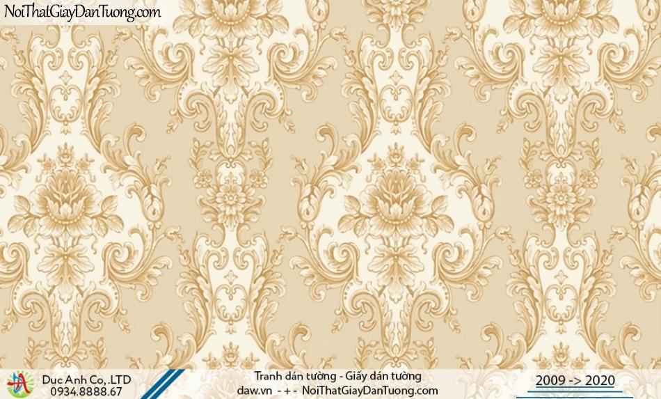 CASSIA | giấy dán tường điểm nhấn phòng khách màu vàng đẹp, họa tiết cổ điển Châu Âu sang trọng | Giấy dán tường Cassia 8670-1