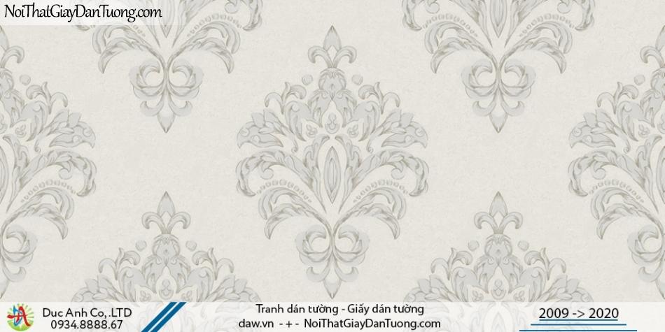 CASSIA | Giấy dán tường hoa lớn, phong cách cổ điển màu xám | Giấy dán tường Cassia 8659-1