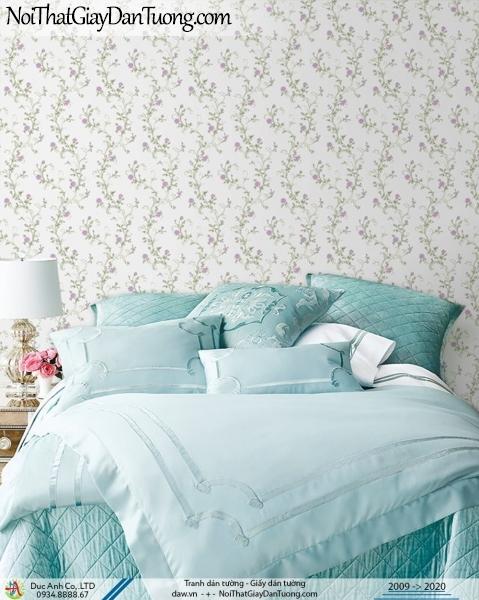 CASSIA | giấy dán tường hoa nhỏ, dạng dây hoa leo tường | Giấy dán tường Cassia 8704-1