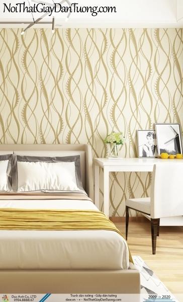 CASSIA | giấy dán tường họa tiết công uốn lượn màu vàng nhạt | Giấy dán tường Cassia 8676-2
