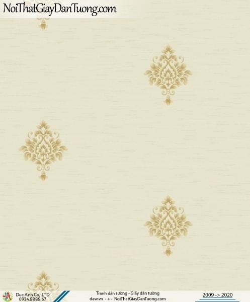 CASSIA | giấy dán tường hoa văn cổ điển nhẹ nhàng đơn giản màu vàng | Giấy dán tường Cassia 8702-2