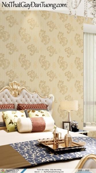 CASSIA | giấy dán tường hoa văn họa tiết cổ điển màu vàng | Giấy dán tường Cassia 8674-3