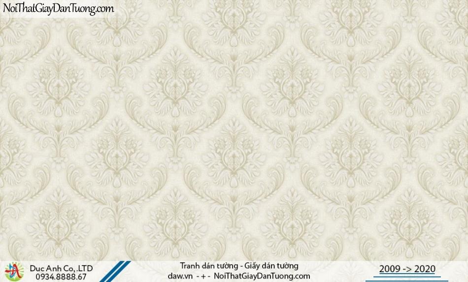 CASSIA | Giấy dán tường hoa văn lớn, cổ điển Châu Âu màu vàng kem | Giấy dán tường Cassia 8658-1