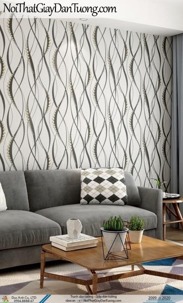 CASSIA | giấy dán tường hoa văn uốn lượn màu xanh đen | Giấy dán tường Cassia 8676-3