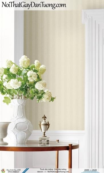CASSIA | giấy dán tường kẻ sọc, sọc thẳng chìm màu vàng nhạt, vàng kem | Giấy dán tường Cassia 8675-3