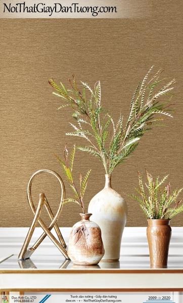 CASSIA | Giấy dán tường màu vàng đồng, giấy gân trơn, gân sần, gân nhám | Giấy dán tường Cassia 8664-3