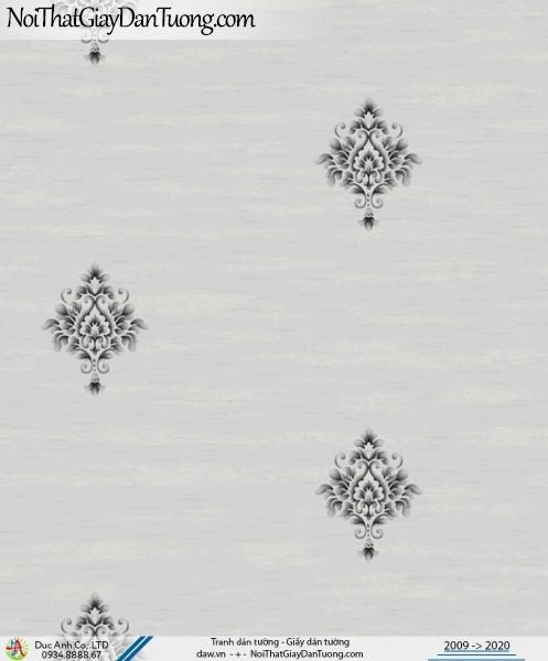CASSIA | giấy dán tường màu xám, hoa văn cổ điển đẹp | Giấy dán tường Cassia 8702-4