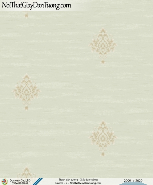 CASSIA | giấy dán tường màu xanh nhạt, hoa văn cổ điển | Giấy dán tường Cassia 8702-3