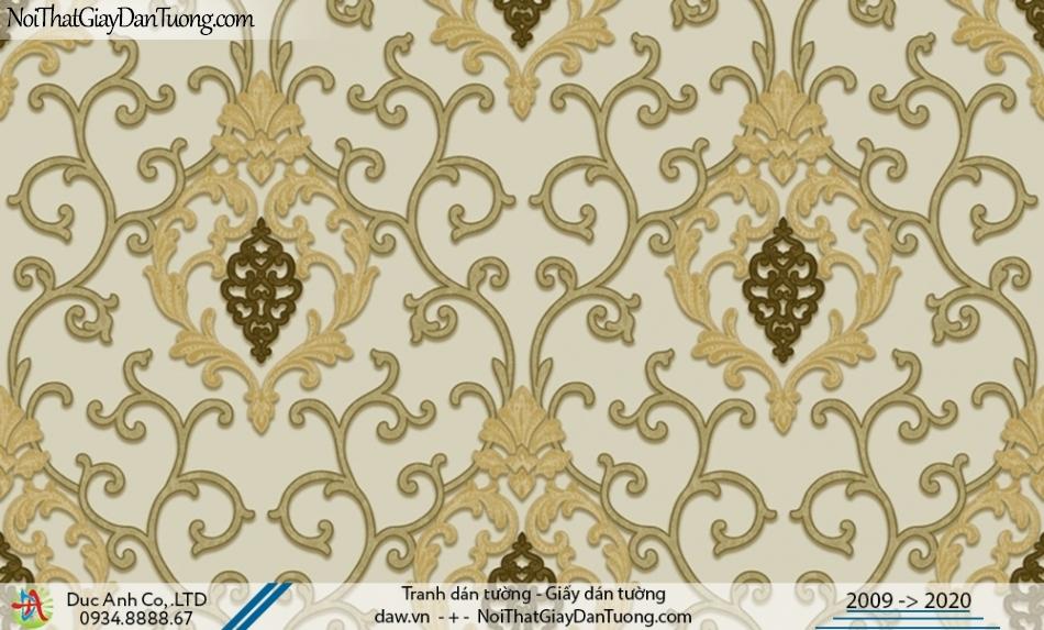 CASSIA | giấy dán tường phòng khách đẹp sáng trọng, cổ điển màu vàng | Giấy dán tường Cassia 8667-3