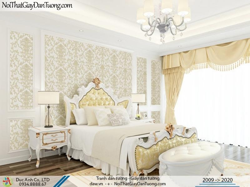 CASSIA | giấy dán tường phòng ngủ, họa tiết cổ điển phong cách Châu Âu sang trọng màu vàng | Giấy dán tường Cassia 8661-1