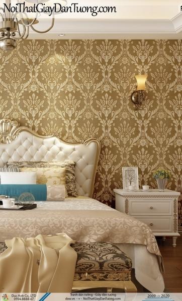 CASSIA | giấy dán tường sang trọng màu vàng, họa tiết cổ điển Châu Âu | Giấy dán tường Cassia 8663-3