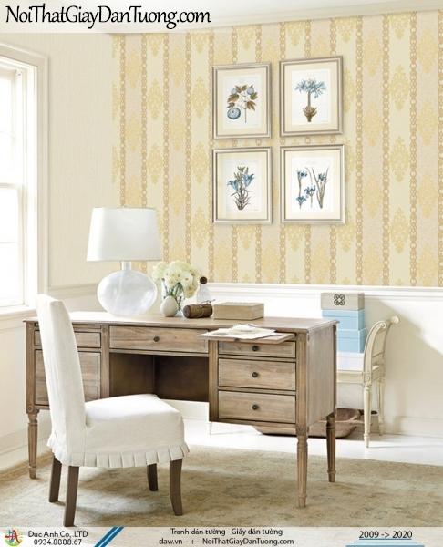 CASSIA | giấy dán tường sọc màu vàng, sọc hoa văn họa tiết | Giấy dán tường Cassia 8668-1