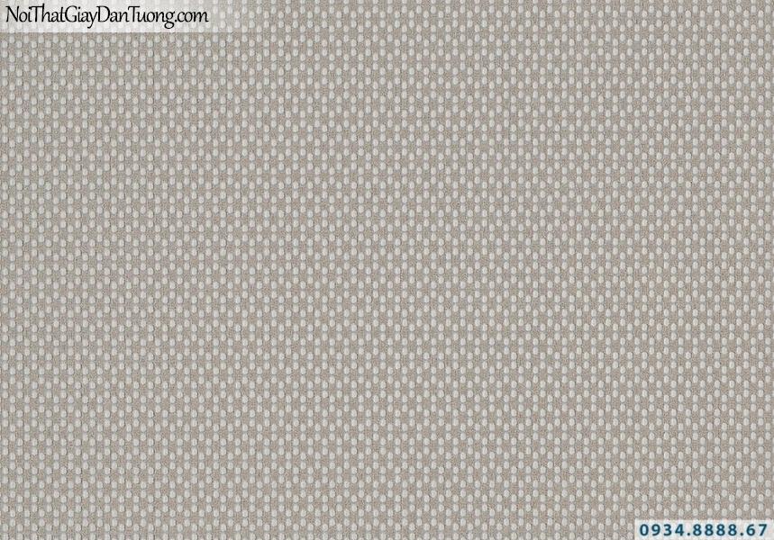 Giấy dán tường Lucky 2635 | giấy dán tường chấm bi màu xám đậm, xám tối