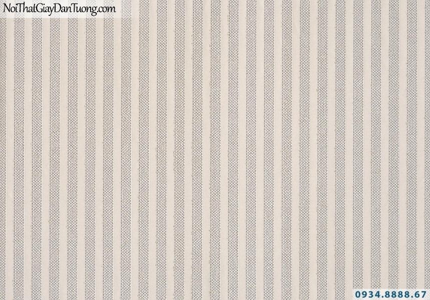 Giấy dán tường Lucky 2643 | giấy dán tường kẻ sọc màu hồng nhạt, sọc thẳng, sọc nhỏ