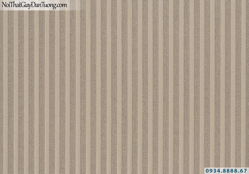 Giấy dán tường Lucky 2644 | giấy dán tường kẻ sọc màu vàng, vàng đồng, sọc nhỏ thẳng đứng